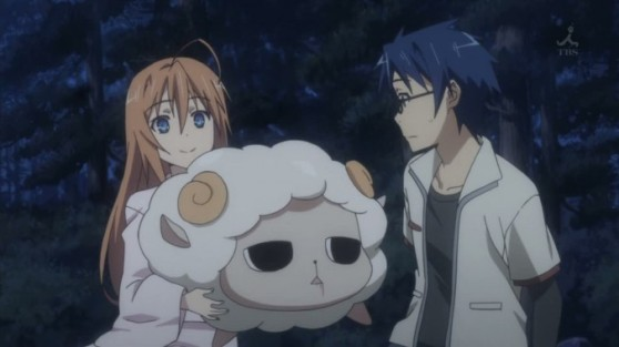Subaru sure loves her creepy sheep...